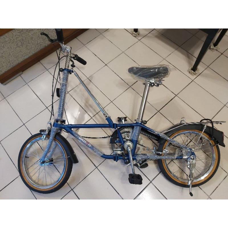 時空膠囊全新古董Dahon E203 16吋三速摺疊車 腳踏車 小折 老貂 藍色