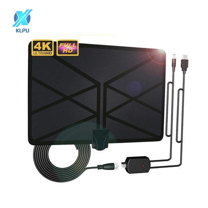 KLPU HDTV天線高清室內數字電視天線960英里範圍4K,帶放大器信號增強器
