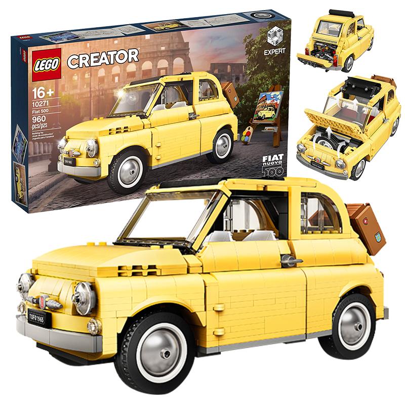LEGO樂高創意歐洲經典汽車10271菲亞特拼裝積木模型益智兒童玩具小店子專賣MKsldwrt