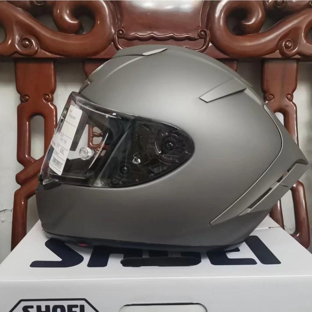 shoei x14頭盔x14水泥灰全盔安全帽 頭盔素白色全盔 男女通用四季安全帽 全罩安全帽