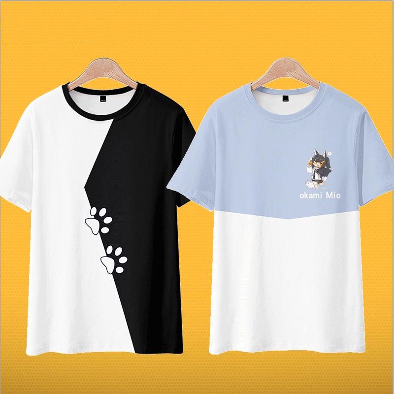 【台灣現貨】動漫虛擬主播vtuber大神澪hololive週邊短袖T恤日系二次元衣服0