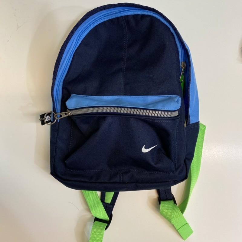 二手 8成新 NIKE 耐吉 小後背包 兒童包 雙肩包 旅行包 藍色 綠色 JUST DO IT