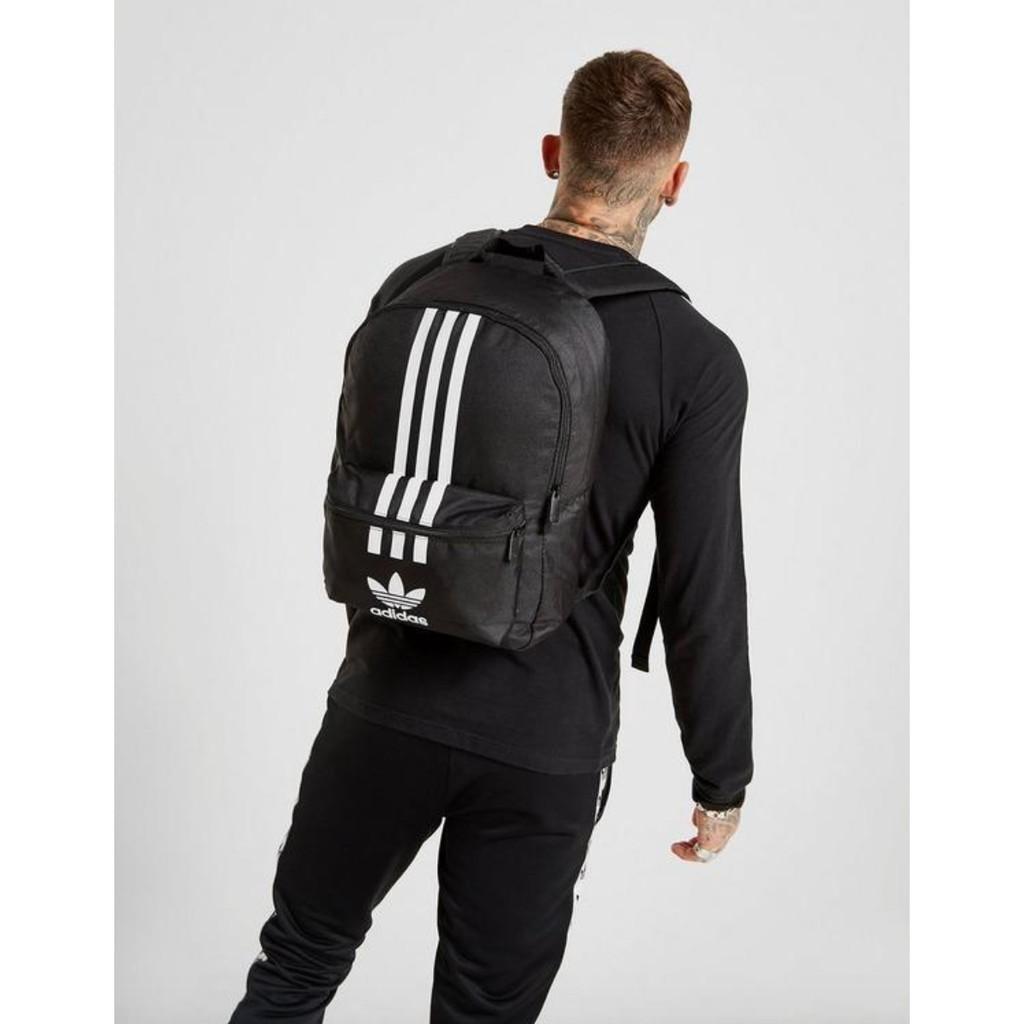 Little Parts) Adidas Adicolor 後背包 三葉草 黑色 logo 雙肩 特價 GD4556