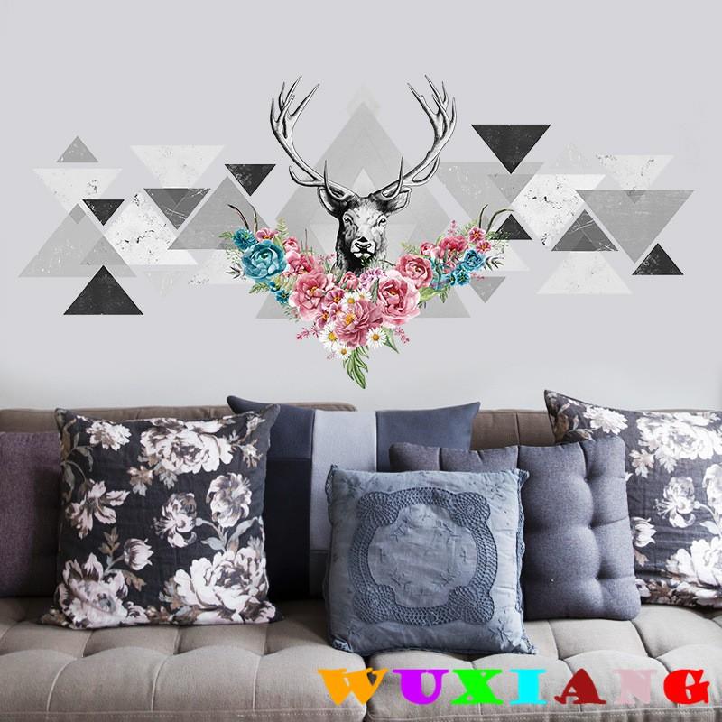 【五象設計】動物 壁貼 個性牆貼 北歐風格 牆貼紙 現代簡約 牆壁裝飾藝術 居家裝飾貼畫