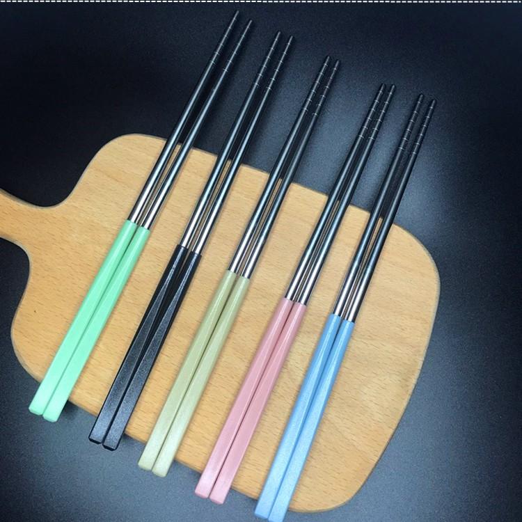 筷子 環保筷 家用筷子 304不鏽鋼環保筷 鐵筷 餐具 兒童筷 小麥柄不鏽鋼筷子 食品級不鏽鋼304筷子