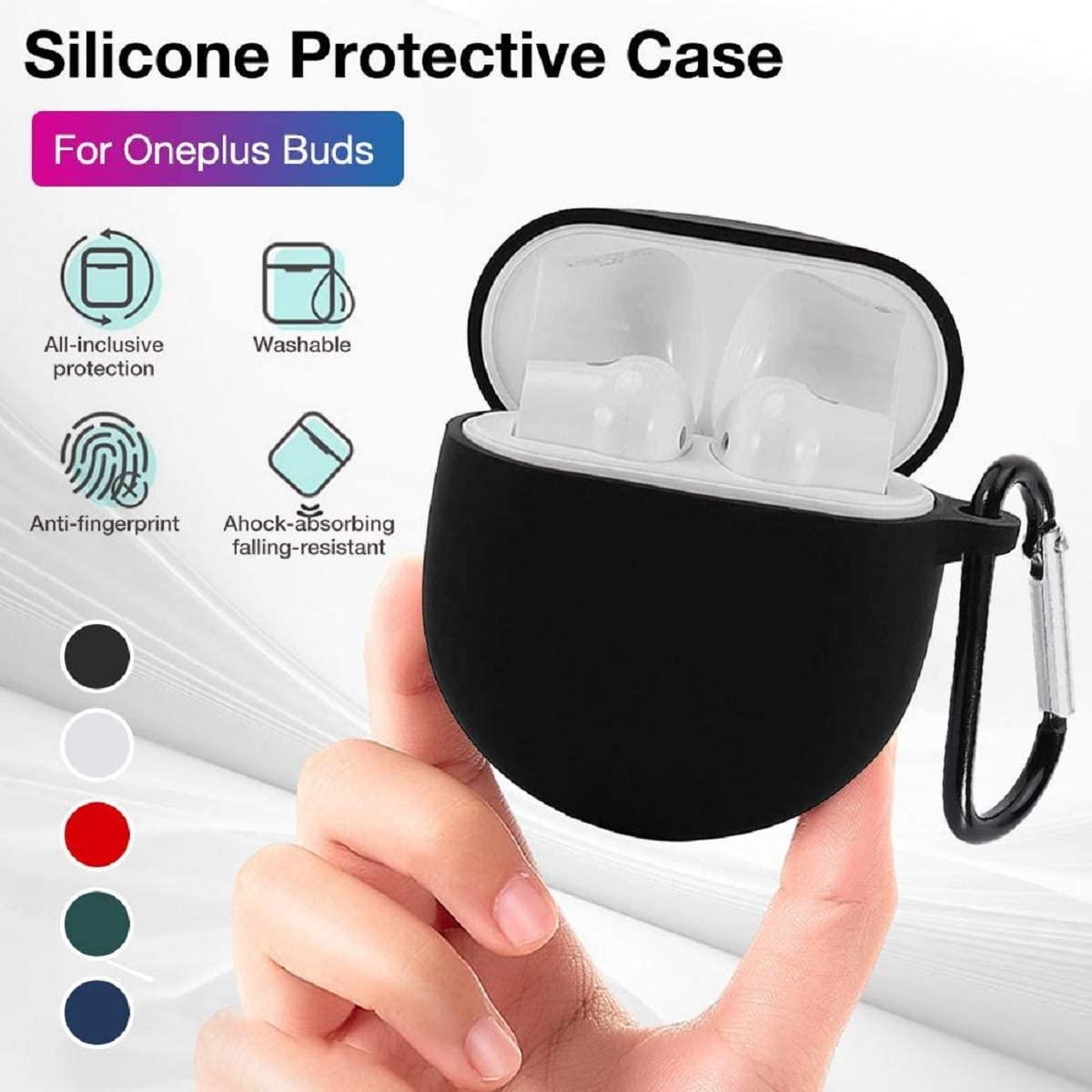 對於 Oneplus Buds 外殼, 無線降噪耳機便攜式矽膠套 Para Oneplus Buds 保護套
