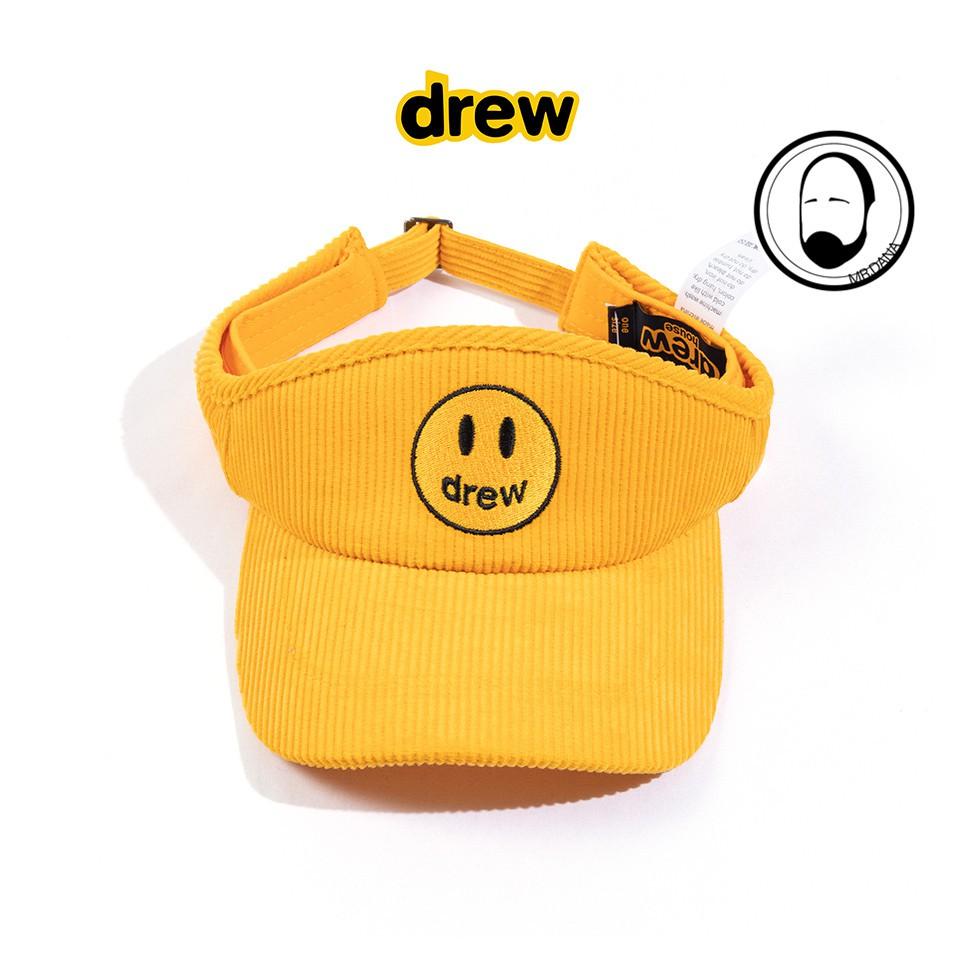 代購 DREW HOUSE JUSTIN男女情侶同款潮牌笑臉刺繡燈芯絨太陽帽 遮陽帽