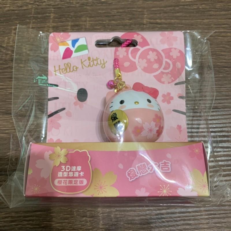 [現貨] Hello Kitty 達摩 3D 造型悠遊卡 櫻花限定版 粉紅