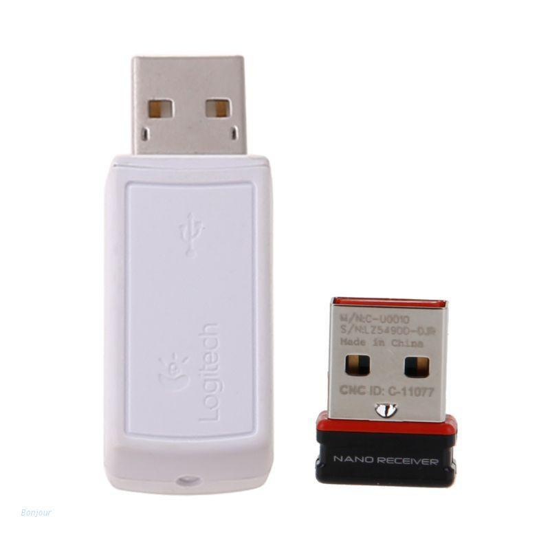 Bonjour 新的USB接收器的無線收發器接收器USB適配器羅技鼠標鍵盤連接
