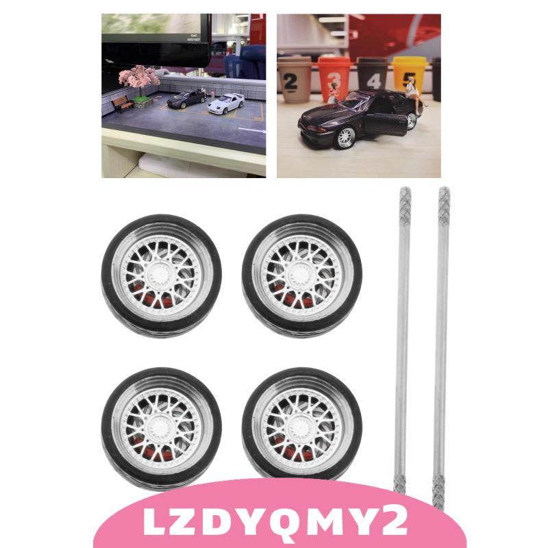 [限時優惠] 4PCS / SET 1/64 On-Road模型車輪和輪胎備件適用於HotWheels E1