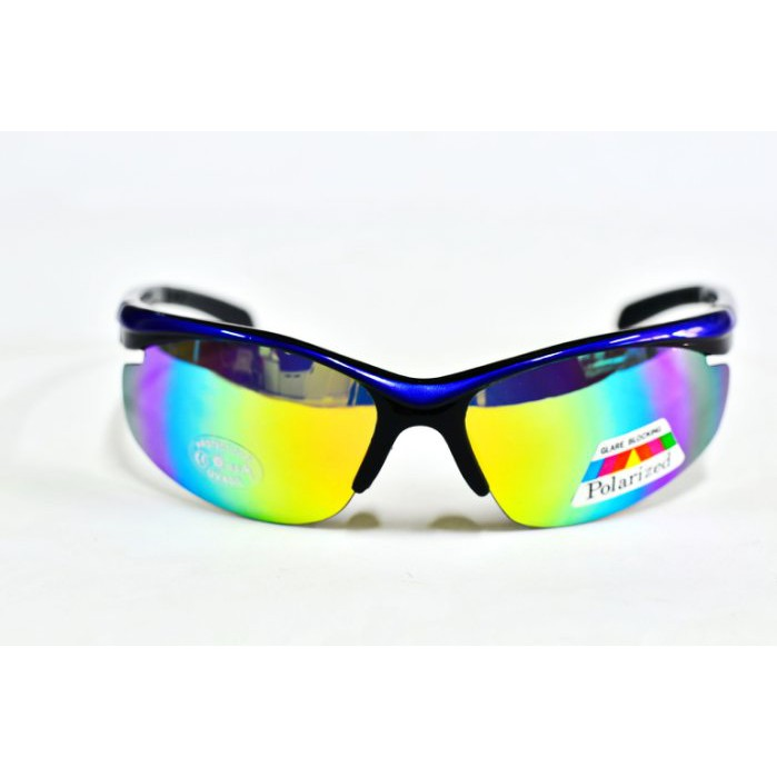 e視網眼鏡 WP9290【1mm寶麗萊偏光多層膜七彩水銀】剽悍風個性運動型太陽眼鏡