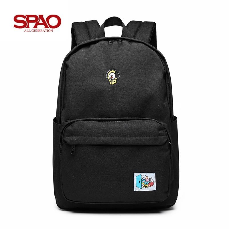 【Inbo-盈寳】韓國 SPAO 防彈少年團 書包 雙肩包 背包 電腦包 學生書包 休閒 後背包