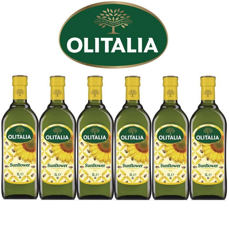 Olitalia奧利塔超值葵花油禮盒組(1000ml x 6瓶)