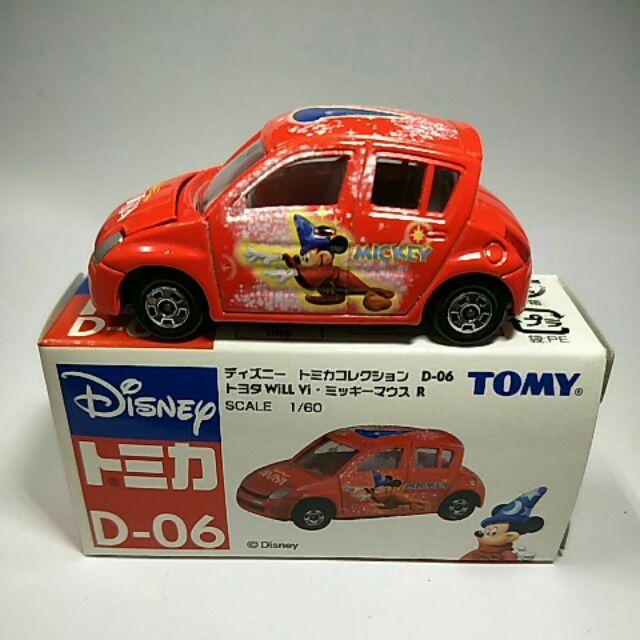 35絕版舊藍標Tomy tomica D-06toyoya Vi紅色魔法米奇車