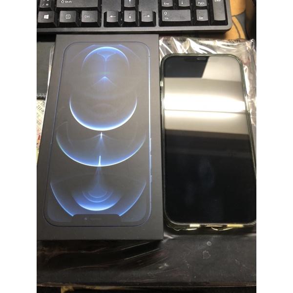 蘋果 手機 iphone 12 pro max 256G  太平洋藍 保固中 保存良好  5G(附贈SPIGEN防護殼)