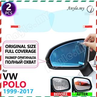 大眾 POLO 6N2 9N 9N3 6R 6C 1999 〜 2017 3 4 5 防霧配件的全覆蓋防霧防雨膜後視鏡