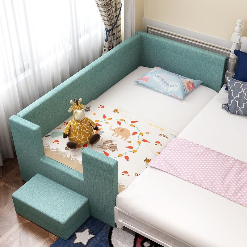 【燕燕百貨店】實木兒童床拼接床嬰兒床拼接大床女孩大童單人床加寬床拼接床邊床