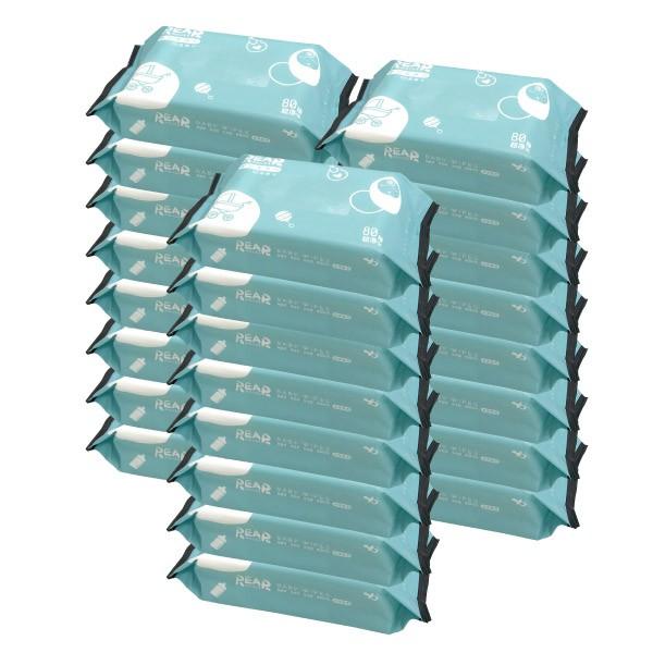 REAR 麗兒采家 EDI超純水嬰兒柔濕巾/濕紙巾 80抽24包|箱購【麗兒采家】