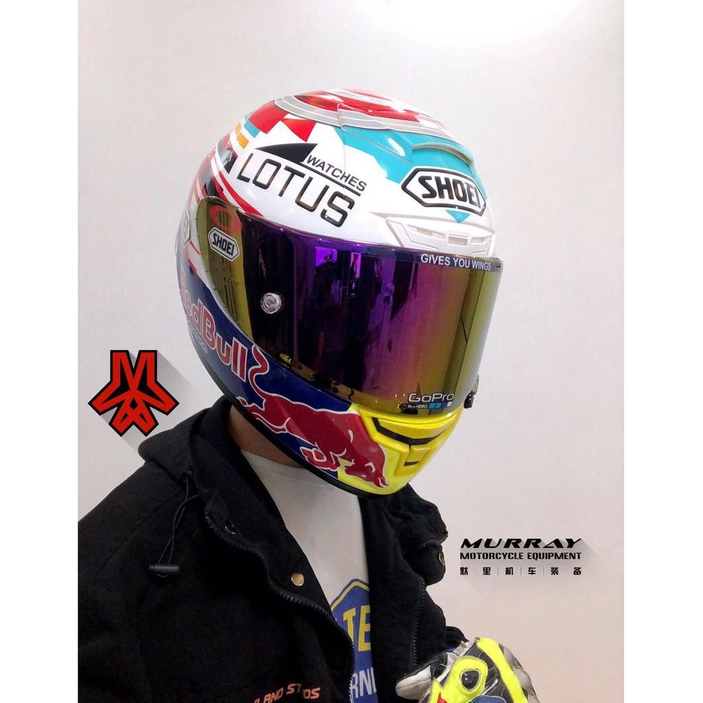 shoei x14頭盔紅牛電源鍵全盔93號馬奎斯電源鍵開關定制款全覆式全盔