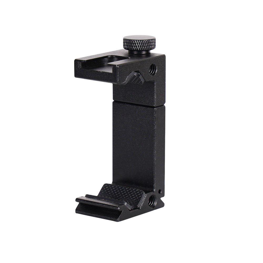 補光燈熱靴夾鋁合金手機夾 攝影配件 桌面手機支架桿自拍桿金屬夾