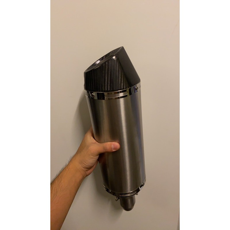 Arrow 碳纖維排氣管附消音塞51mm