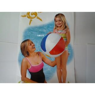 玩樂生活 美國INTEX 59020 四色充氣沙灘球51公分 兒童夏天玩水/ 游泳/ 戲水也可以用 好玩又好用 溫泉可以用
