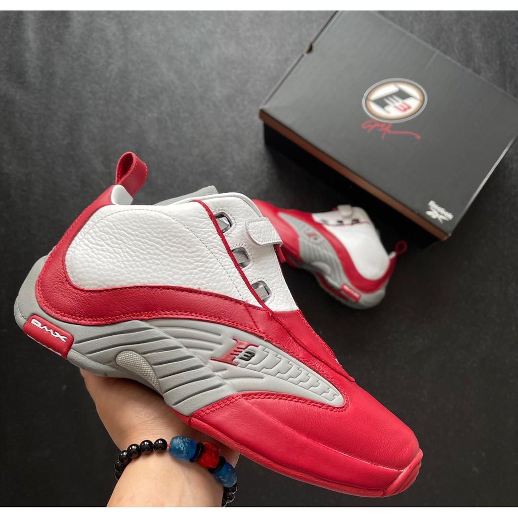 Reebok Answer 4 OG 灰紅 運動鞋  籃球鞋 慢跑鞋 男款 FY9690