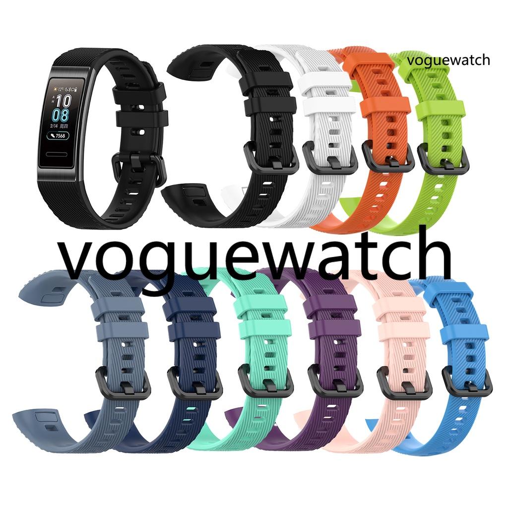 華為 [Vog] 適用於 HUAWEI Band 3 / 3 Pro / 4 Pro 的柔軟矽膠錶帶手鍊錶帶更換