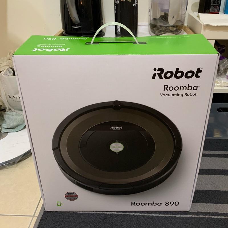 美國iRobot Roomba 890 wifi掃地機器人 台灣總代理保固內 二手有使用痕跡