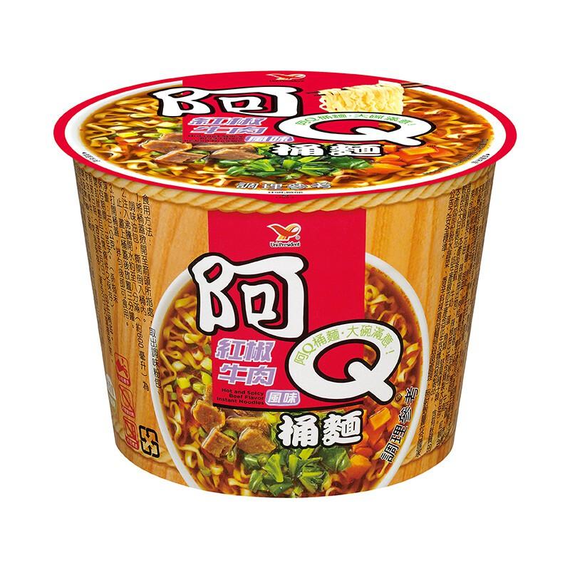 阿Q桶麵 紅椒牛肉 12入碗裝 限桃園新竹台北購買