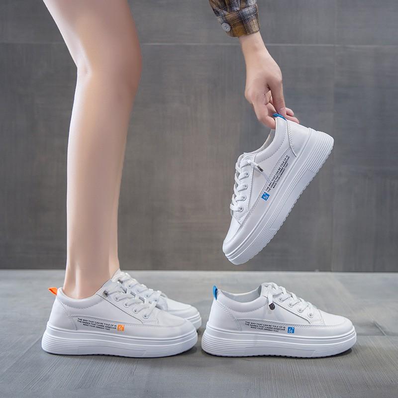 網紅小白鞋女2020秋季新款韓版學生厚底增高跑步板鞋ins女鞋V002##