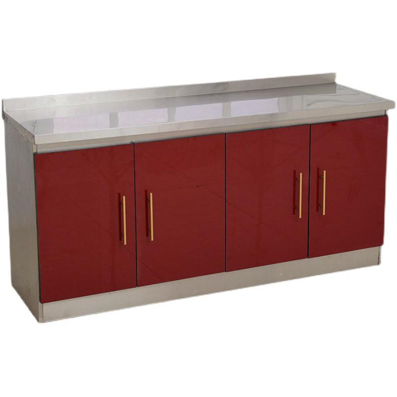 現貨免運廚房組合櫃儲物櫃水槽櫥櫃2米不銹鋼廚房櫥柜灶臺柜一體櫃組合家用儲物碗櫃整體簡易經濟型