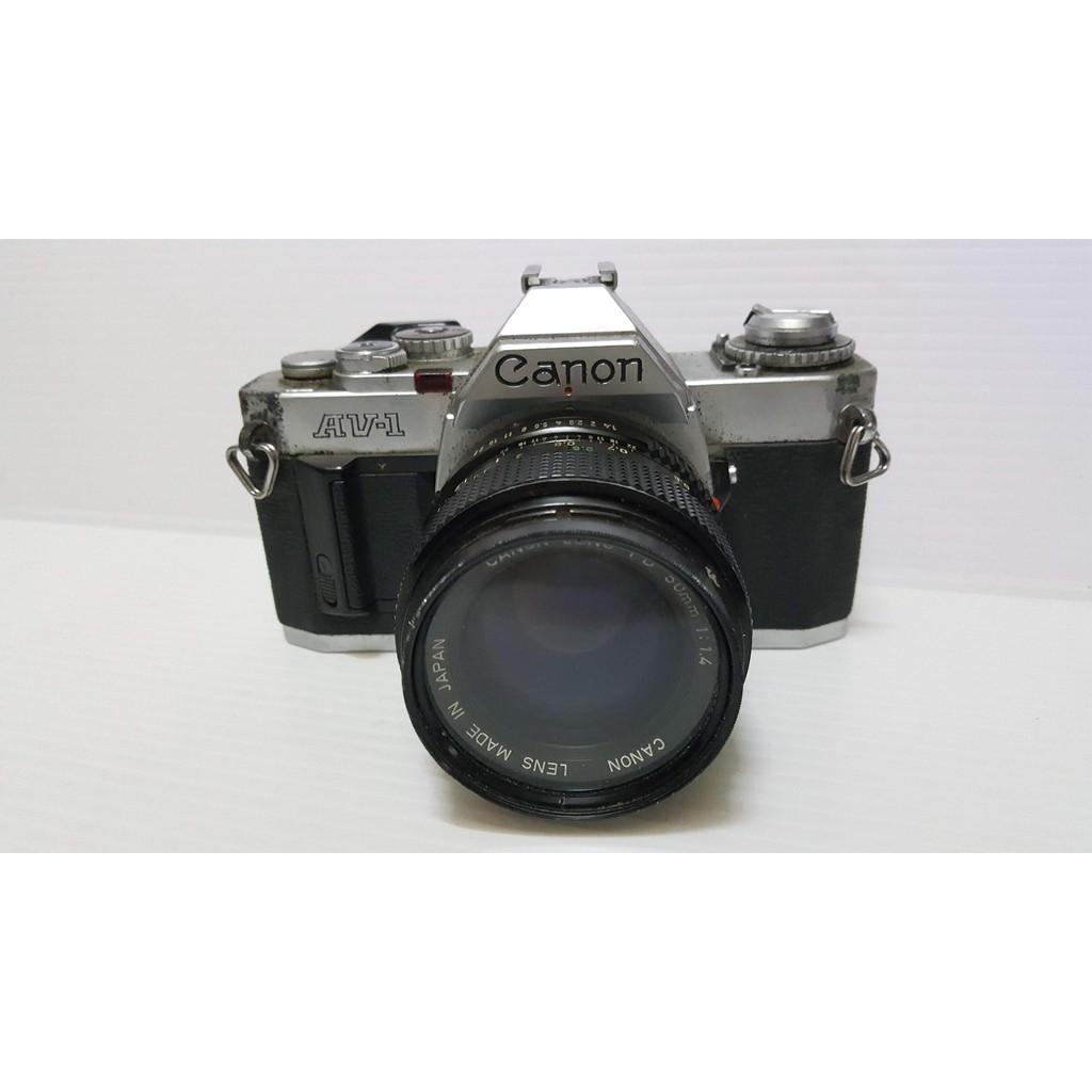 Canon av-1相機 加 canon Lens FD 50mm F1.4 鏡頭 需整理
