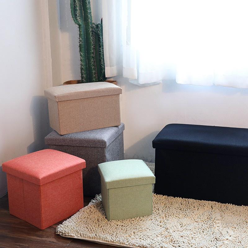 限時免運# 多功能摺疊收納椅 長方形 小方形 黑色灰色摺疊收納椅 收納凳 收納箱 儲物箱 沙發 超耐重 簡約 北