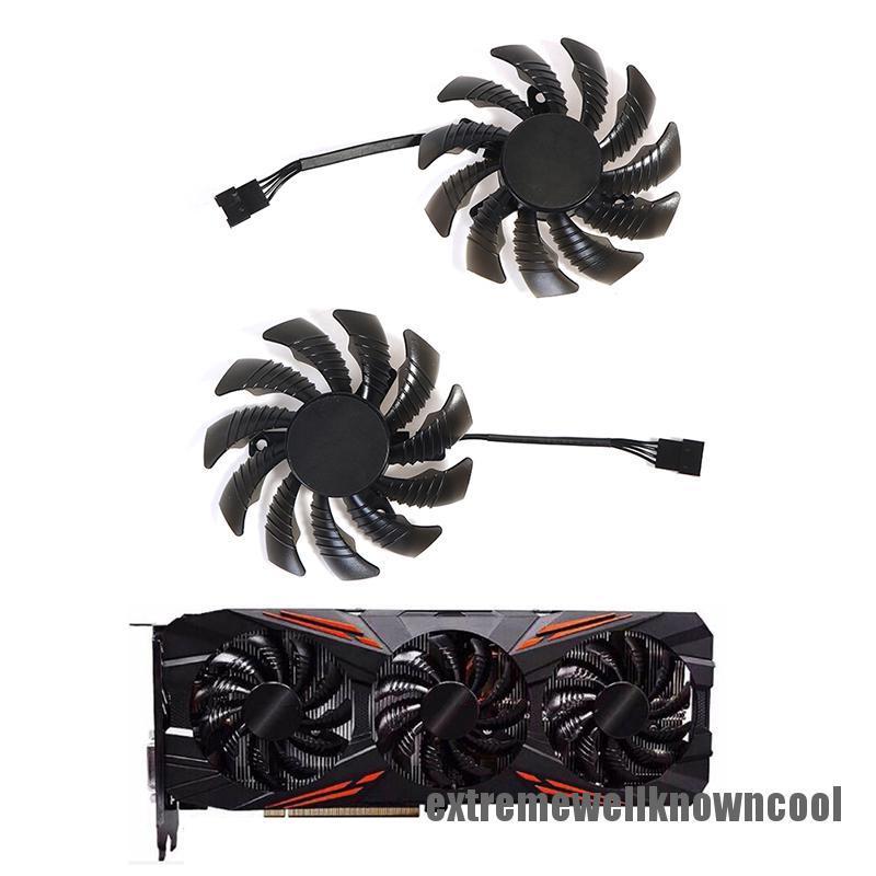 適用於 Gtx 1080 1070 Ti 遊戲風扇遊戲視頻卡散熱器風扇的 Ewkc 75mm 冷卻風扇