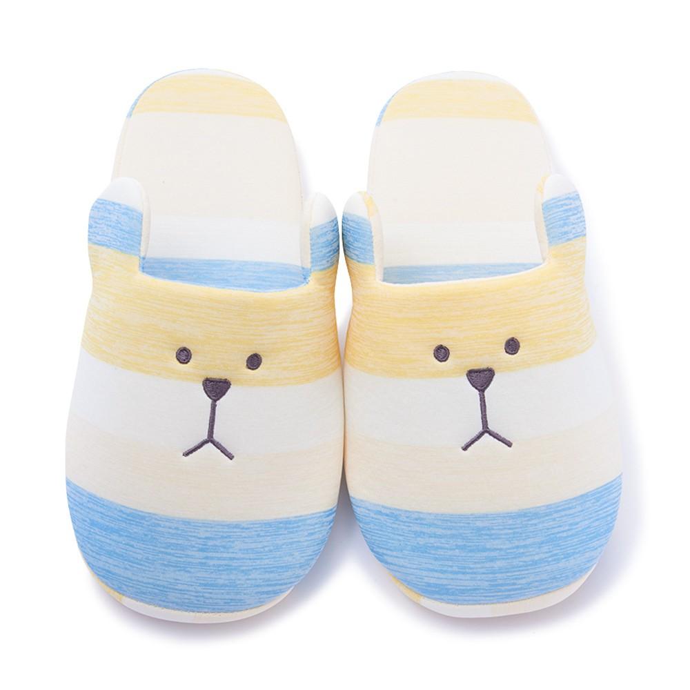 CRAFTHOLIC 宇宙人 簡單生活熊室內拖鞋(涼感布料)