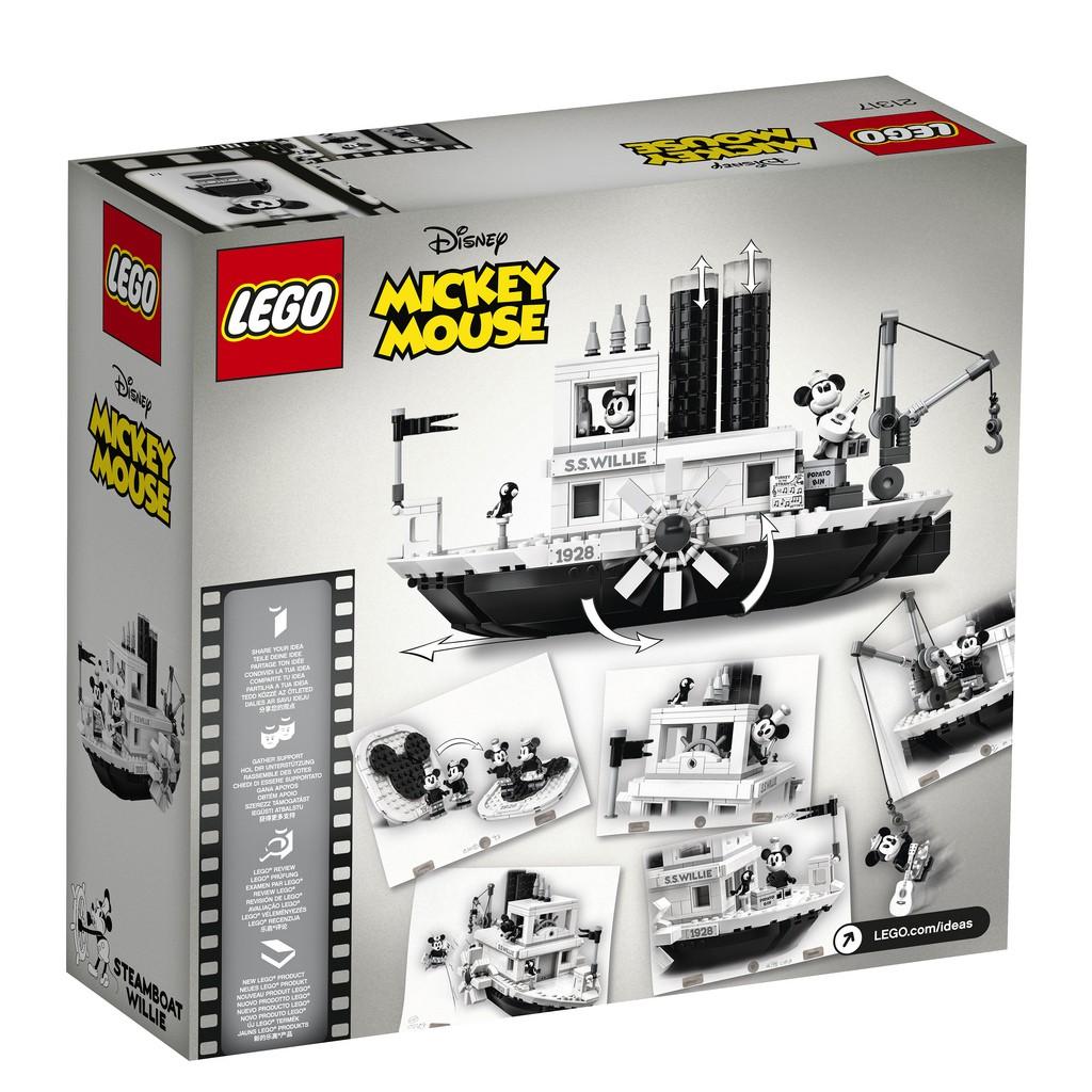 現貨 LEGO 樂高 21317 Ideas 系列 汽船威利號 全新未拆 公司貨  另可加購BS燈組(樂高正版零件)