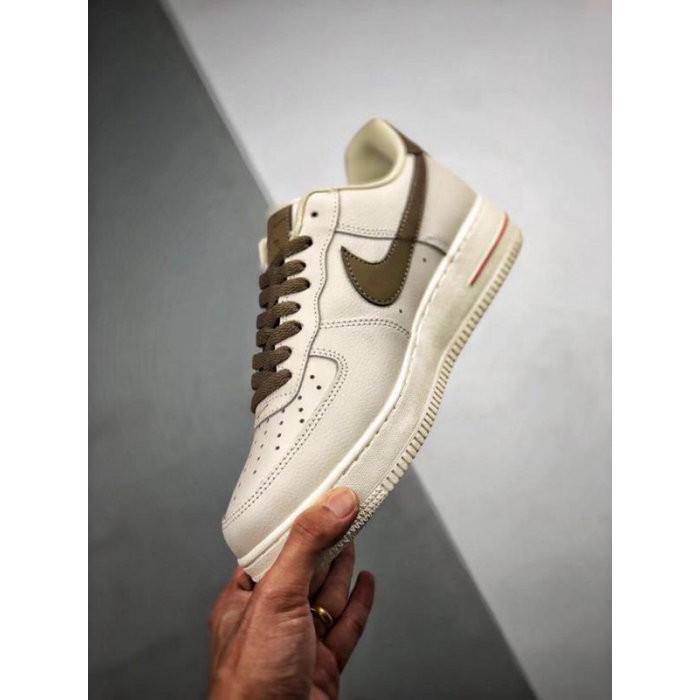 NIKE AIR FORCE 1 LOW '07 奶咖啡色 皮革 低幫 休閒運動板鞋 男女鞋 現貨