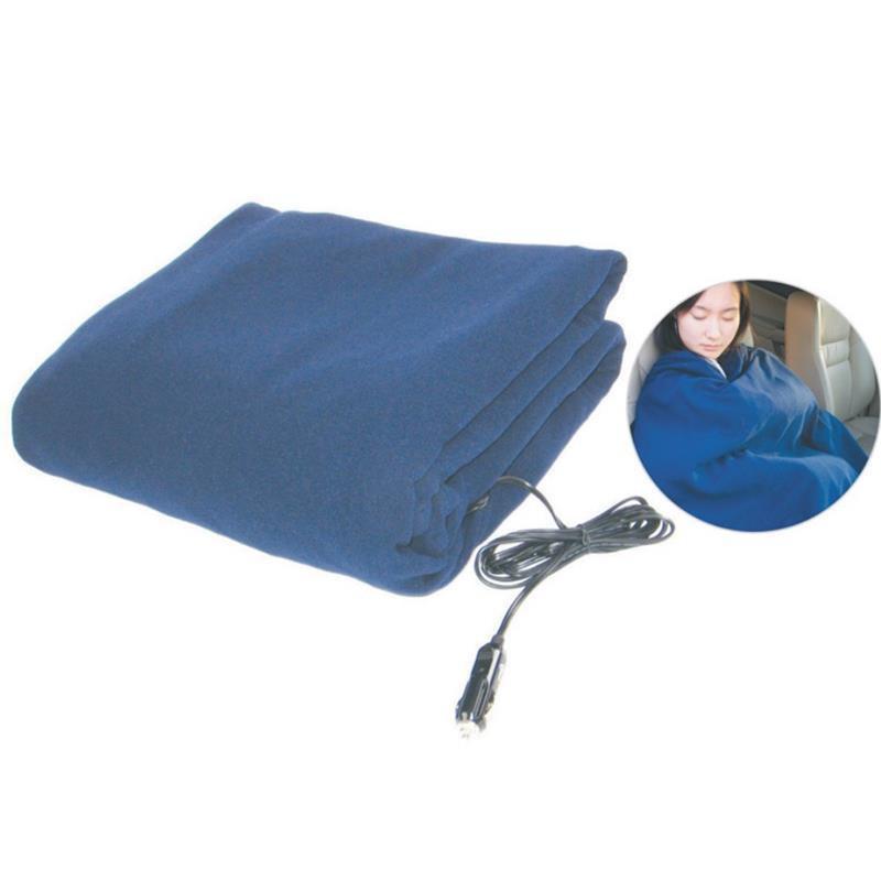 現貨 汽車毛毯加熱毯車載電加熱毯12V保暖毯車用電熱毯110*150CM冬季被