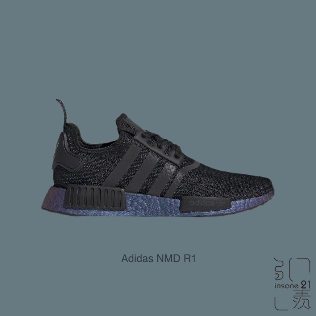 ADIDAS ORIGINALS NMD R1 BOOST 全黑 變色龍鞋 異色底 FV3645【Insane-21】