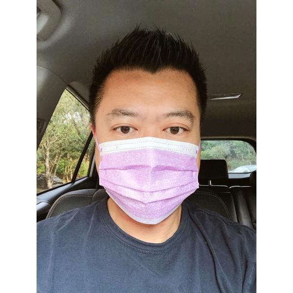 萊潔醫療防護平面式口罩玩色牛仔系列-牛仔蜜粉黃/牛仔薰衣草紫