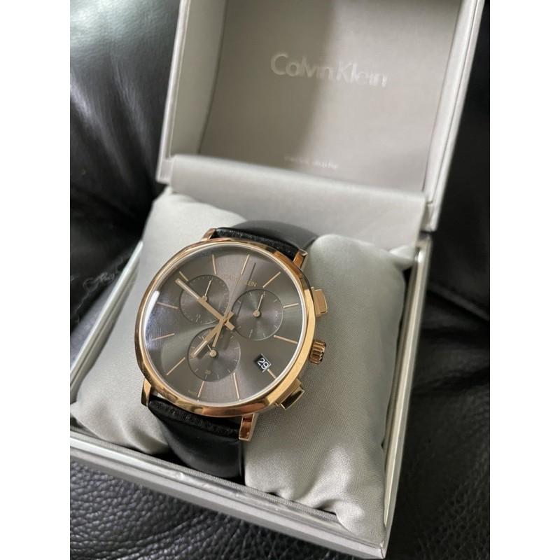 CK Calvin Klein 三眼計時腕錶