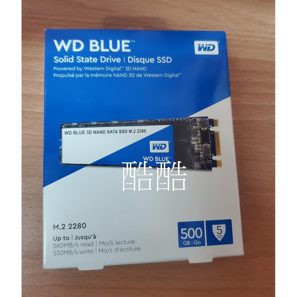 公司貨 WD 藍標 500G SSD M.2 2280 SATA 固態硬碟 M2規格 M.2 SATA