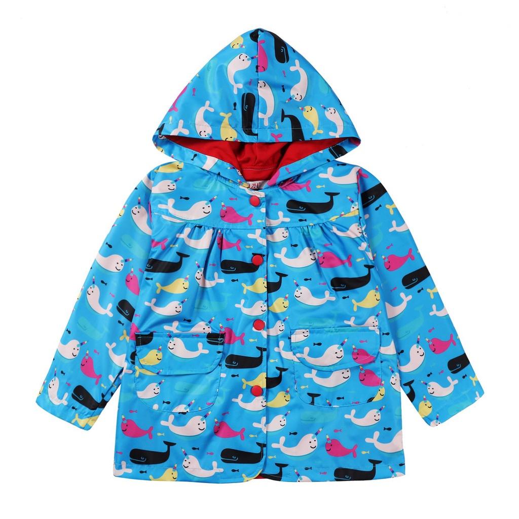 歐美寶寶3D衝鋒衣2019中童印花童外套外套新品男童風衣春外貿 RCLP