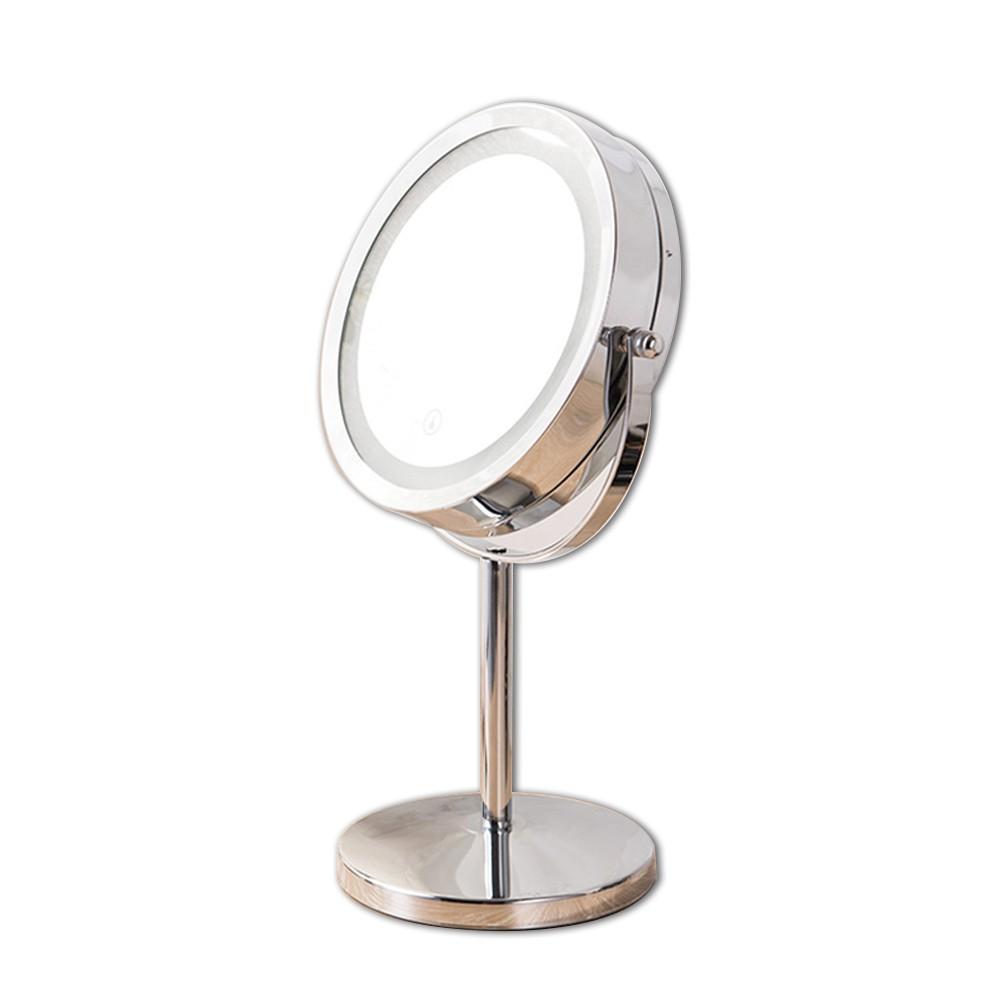 【品樂生活】LED旋轉兩用化妝鏡/10倍放大鏡/美容鏡