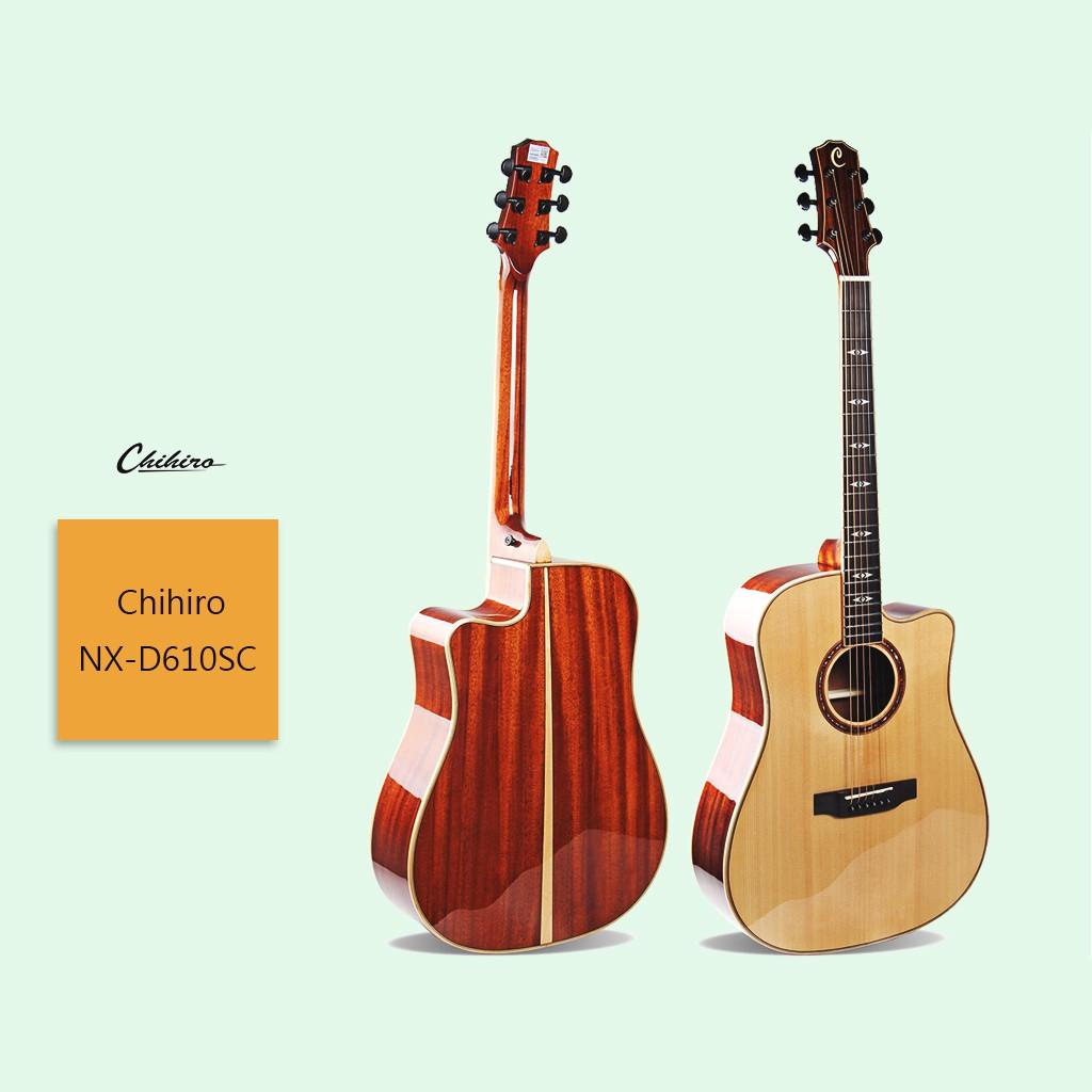 【Chihiro】NX-D610SC 民謠吉他 NX & LX系列 異桶形 半缺角臂托 雲杉單板 高檔手工