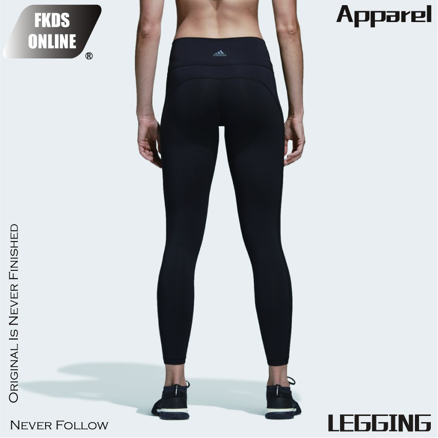 ADIDAS 愛迪達 經典素面 後腰三線LOGO LEGGING 女子訓練 緊身褲 健身褲 運動褲 內搭褲 CV8435