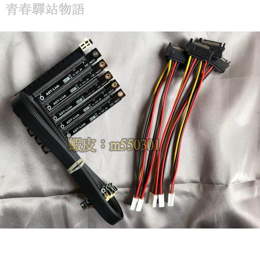 ❀台灣現貨 ADT-Link PCIe x1轉x16 軟排 挖礦轉板 rtx3060ti 3070 3080 1660s