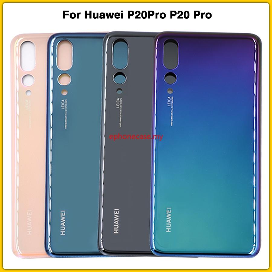 華為 Jongusepcm- 適用於 Huawei P20Pro P20 Pro 電池後蓋電池門玻璃後蓋面板更換