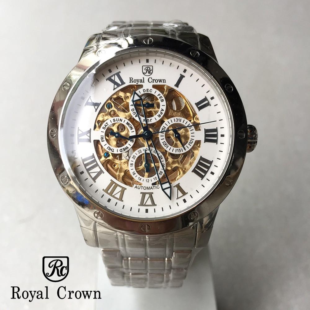 【完全計時】手錶館│Royal Crown機械錶 精緻鏤空系列腕錶